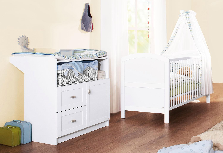 Pinolino Babyzimmer Set (2-tlg) Sparset, »Laura« | Kinderzimmer > Babymöbel > Komplett-Babyzimmer | Weiß | PINOLINO