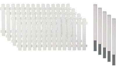 T&J Gartenzaun »Lexington 2«, Kunststoff, 80 cm hoch, 4 Elemente für 7,65 Meter Zaun,... kaufen