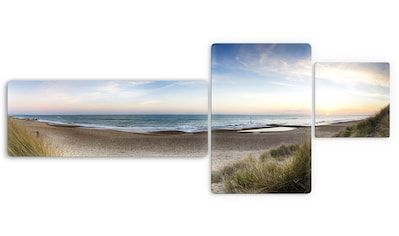 Wall-Art Glasbild »Strandpanorama«, 3-tlg. kaufen