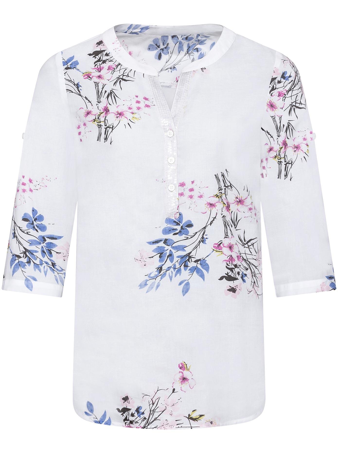 Classic Basics Bluse im floralen Dessin