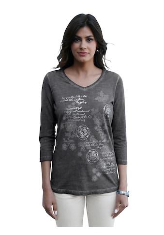 Amy Vermont V-Shirt, mit Rosen-Druck kaufen