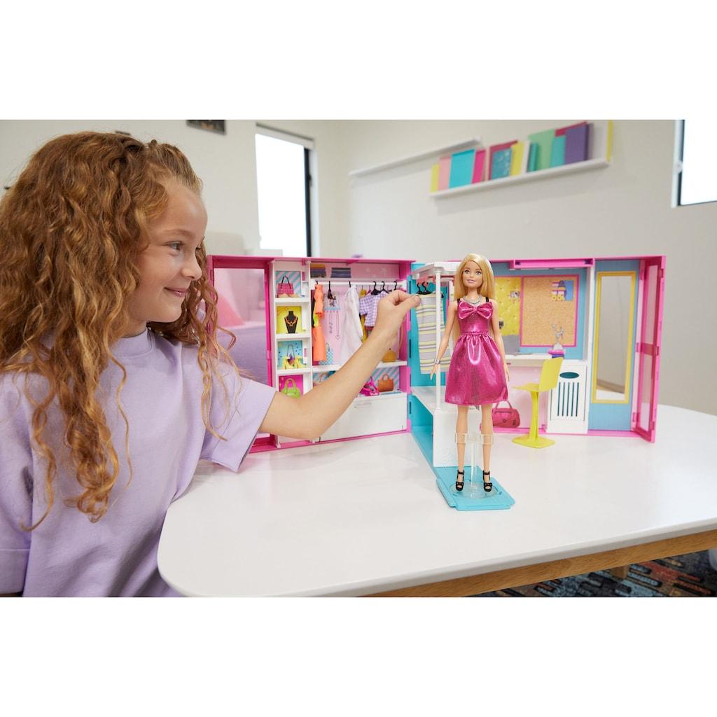 Mattel® Puppenkleiderschrank »Barbie Fashionistas Traum Kleiderschrank«, inkl. Puppe