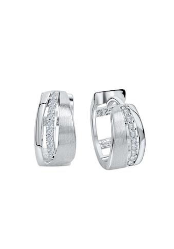 Vivance Paar Creolen »925 Silber rhodiniert«, teilmattiert kaufen