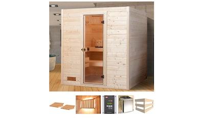 WEKA Sauna »Vaasa 2«, 189x172x204 cm, 7,5 kW Bio - Kombiofen mit ext. Steuerung kaufen