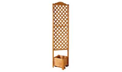 PROMADINO Holzspalier Eckspalier mit Pflanzkasten, BxTxH: 54x54x210 cm kaufen