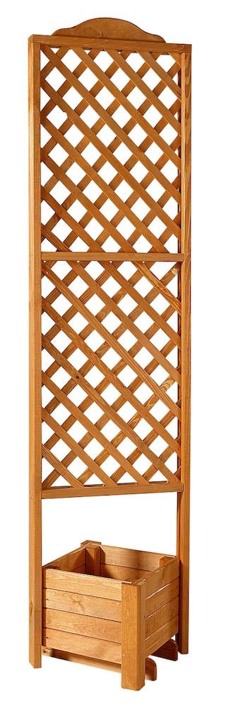 promadino holzspalier eckspalier mit pflanzkasten 54x210 cm kaufen baur. Black Bedroom Furniture Sets. Home Design Ideas