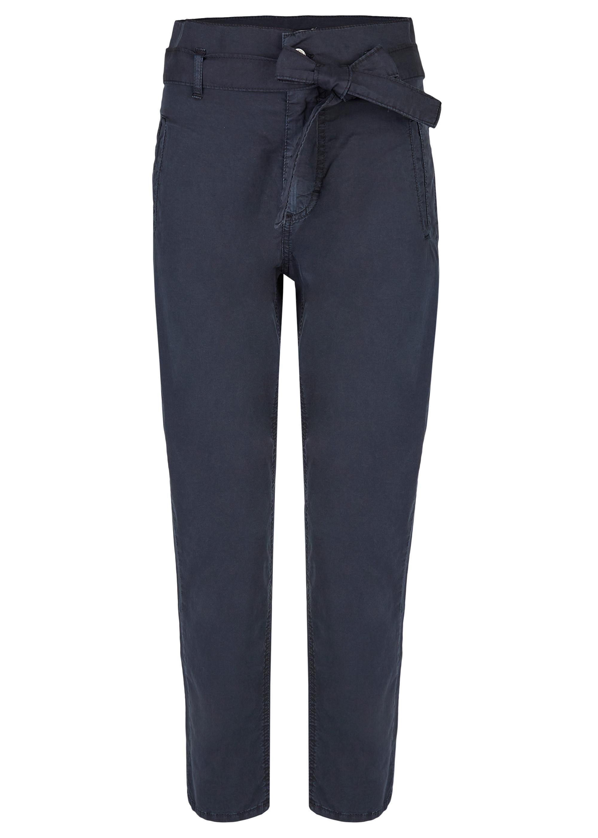 ANGELS Hose,Gwen' mit Bindegürtel blau Damen Hosen lang