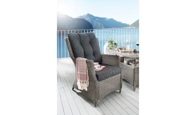 Destiny Gartensessel »Casa«, Polyrattan, inkl. Auflage, grau kaufen