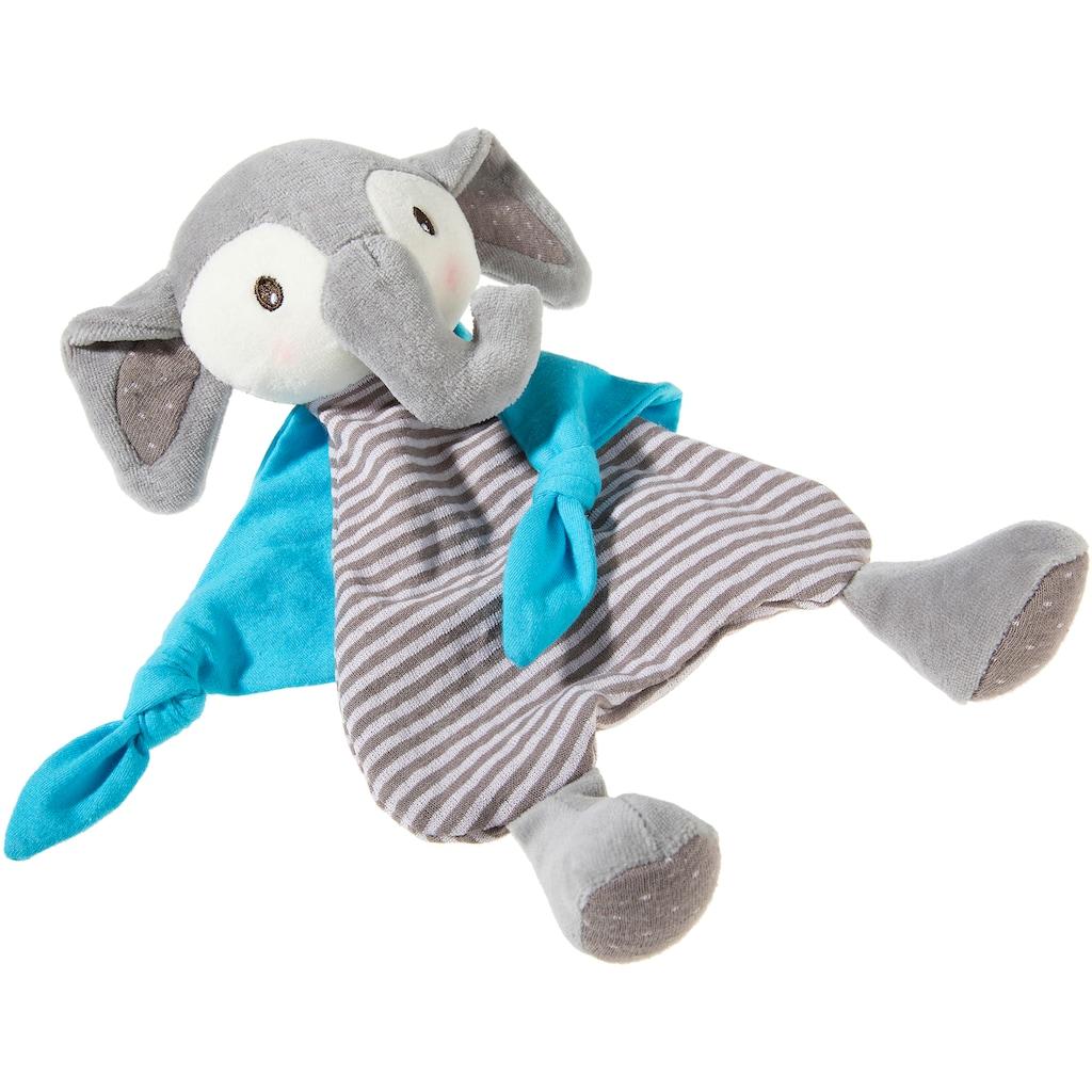 Heunec® Schmusetuch »FrohNATURen GOTS Elefant, riverblue«, organic, zertifiziert durch CERES-0560