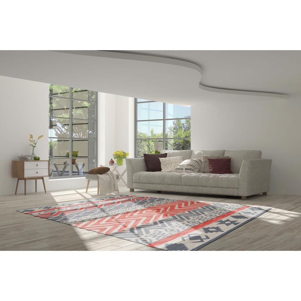 calo-deluxe Teppich »Kibo 412«, rechteckig, 10 mm Höhe, Hoch-Tief-Struktur, Wohnzimmer
