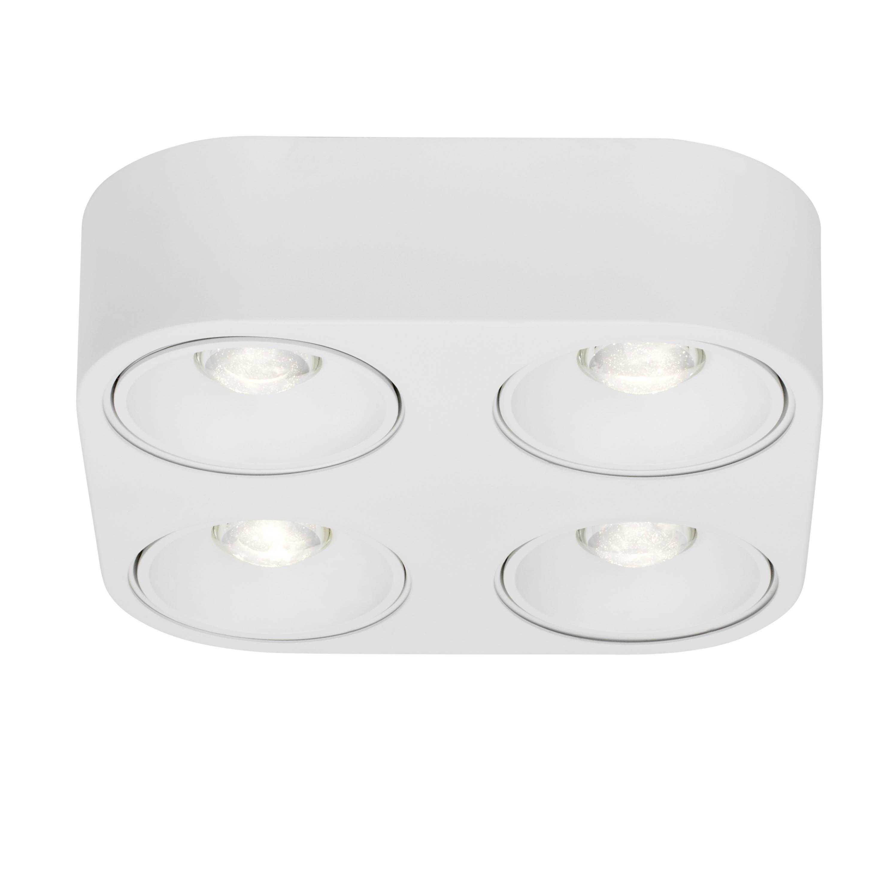 AEG Leca LED Wand- und Deckenleuchte 4flg weiß