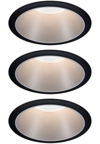 Paulmann,LED Einbauleuchte»Set Cole 3x6,5W Schwarz/Silber matt 3 - Stufen - dimmbar 2700K Warmweiß«, kaufen