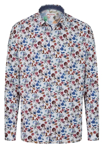 Rich Friday Langarmhemd mit Dots und floralem Print kaufen