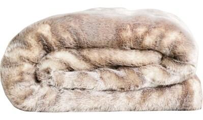 Star Home Textil Wohndecke »Webpelz Decke Silberfuchs«, besonders weich, hochwertig kaufen
