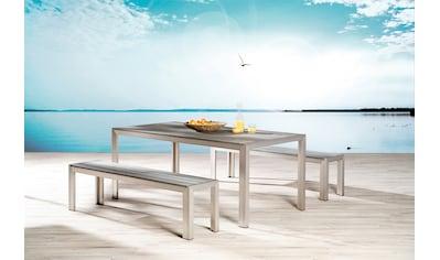 BEST Gartenmöbelset »Seattle«, 3 - tlg., 2 Bänke, Tisch 180x90 cm, Aluminium kaufen