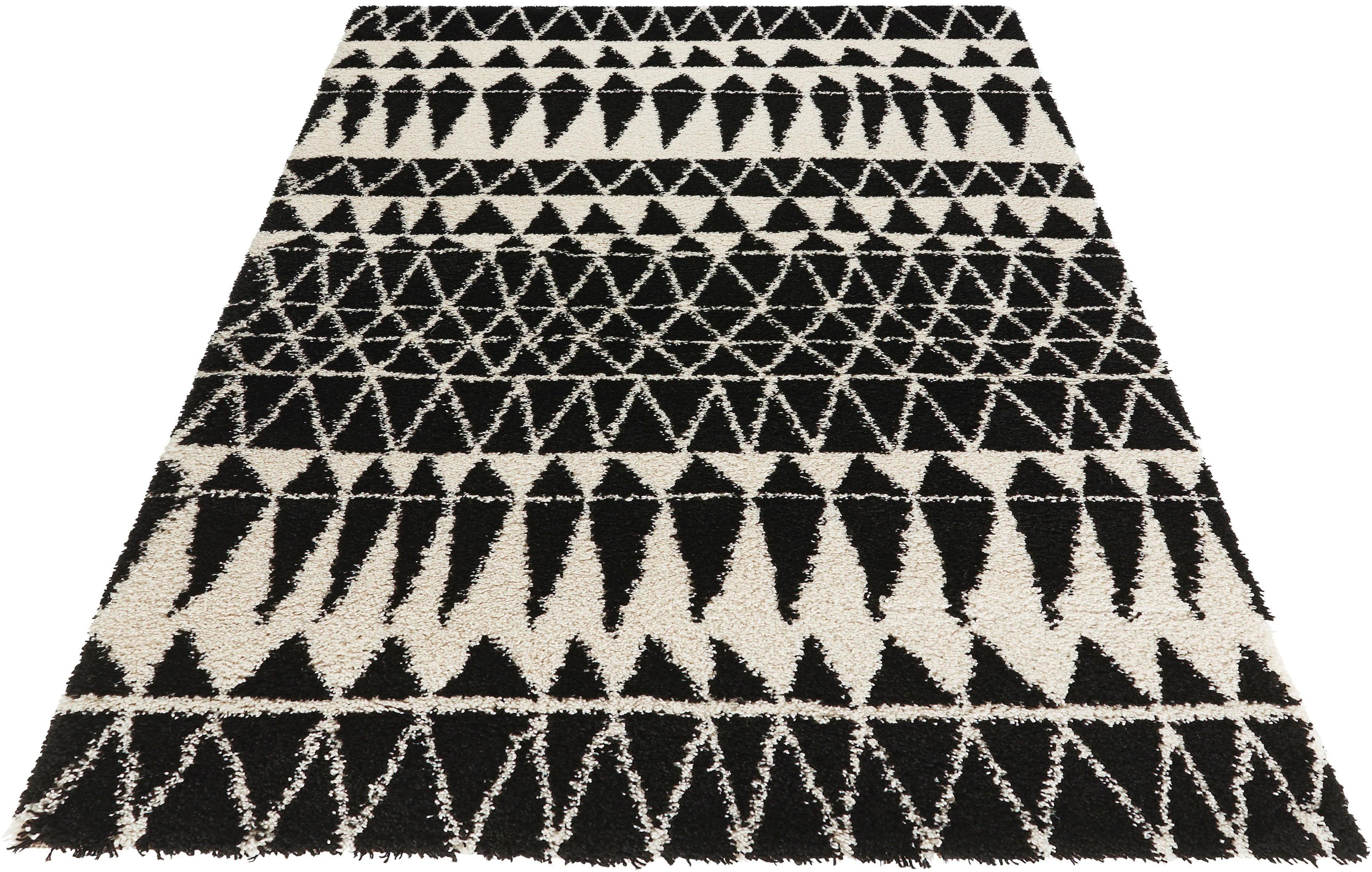 Hochflor-Teppich, »Inspire«, MINT RUGS, rechteckig, Höhe 35 mm | Heimtextilien > Teppiche > Hochflorteppiche | Schwarz | MINT RUGS