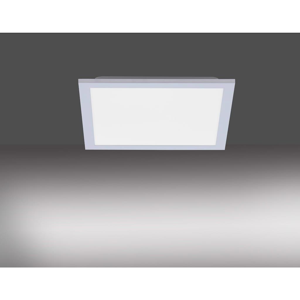 Leuchten Direkt LED Panel »FLAT«, LED-Board, 1 St., Warmweiß, LED Deckenleuchte, LED Deckenlampe