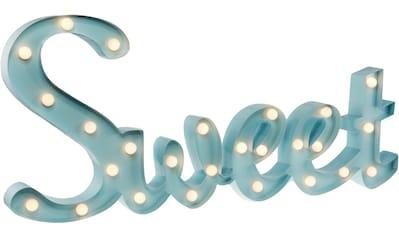 MARQUEE LIGHTS LED Dekolicht »Sweet Schriftzug«, 1 St., Warmweiß, Wandlampe,... kaufen