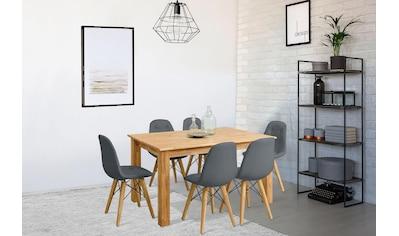 Home affaire Essgruppe »Ben«, (Set, 7 tlg.), bestehend aus 6 Stühlen und 1 Esstisch, Breite des Esstisches 160 cm kaufen