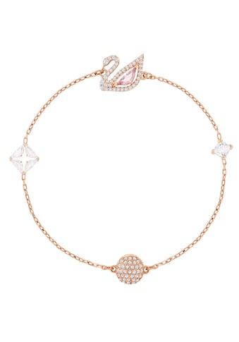 Swarovski Armband »Dazzling Swan, mehrfarbig, rosé Vergoldung, 5485876, 5485877, 5472271« kaufen