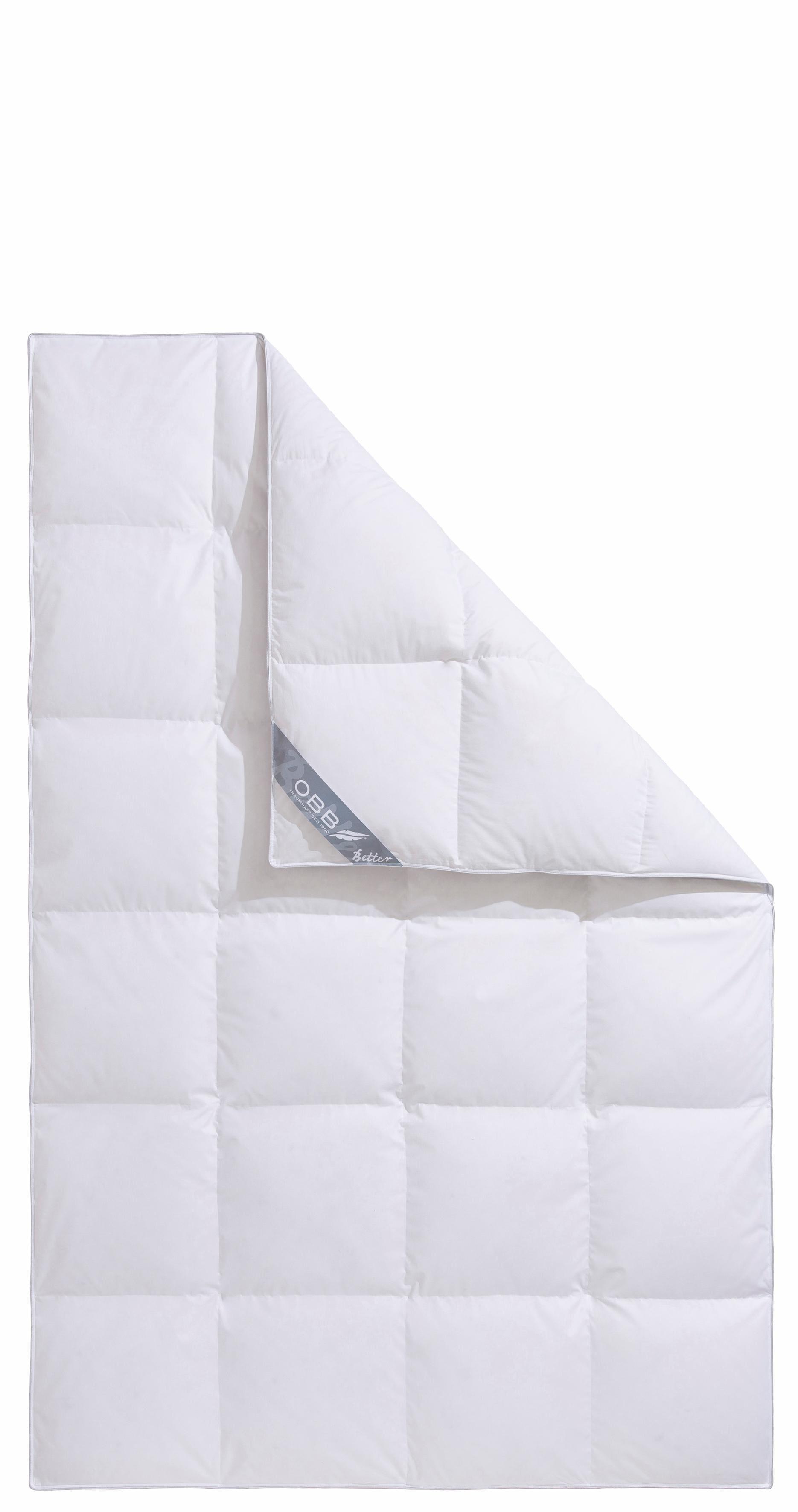 Daunenbettdecke Better Obb Extrawarm Fullung 90 Daunen 10 Federn Bezug 100 Baumwolle