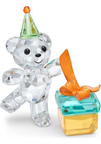 Swarovski Dekofigur »Kris Bär Allerbeste Wünsche, 5557538«, Swarovski® Kristall mit schwarzem Emaille kaufen