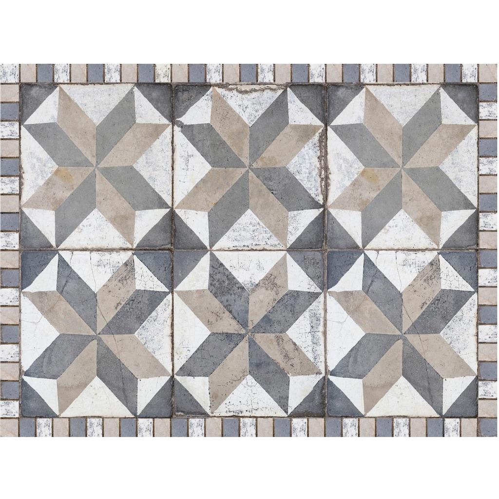 Contento Platzset »Matteo, Tiles used style blue-beige«, (Set, 4 St.), für innen und außen geeignet, wasserabweisend