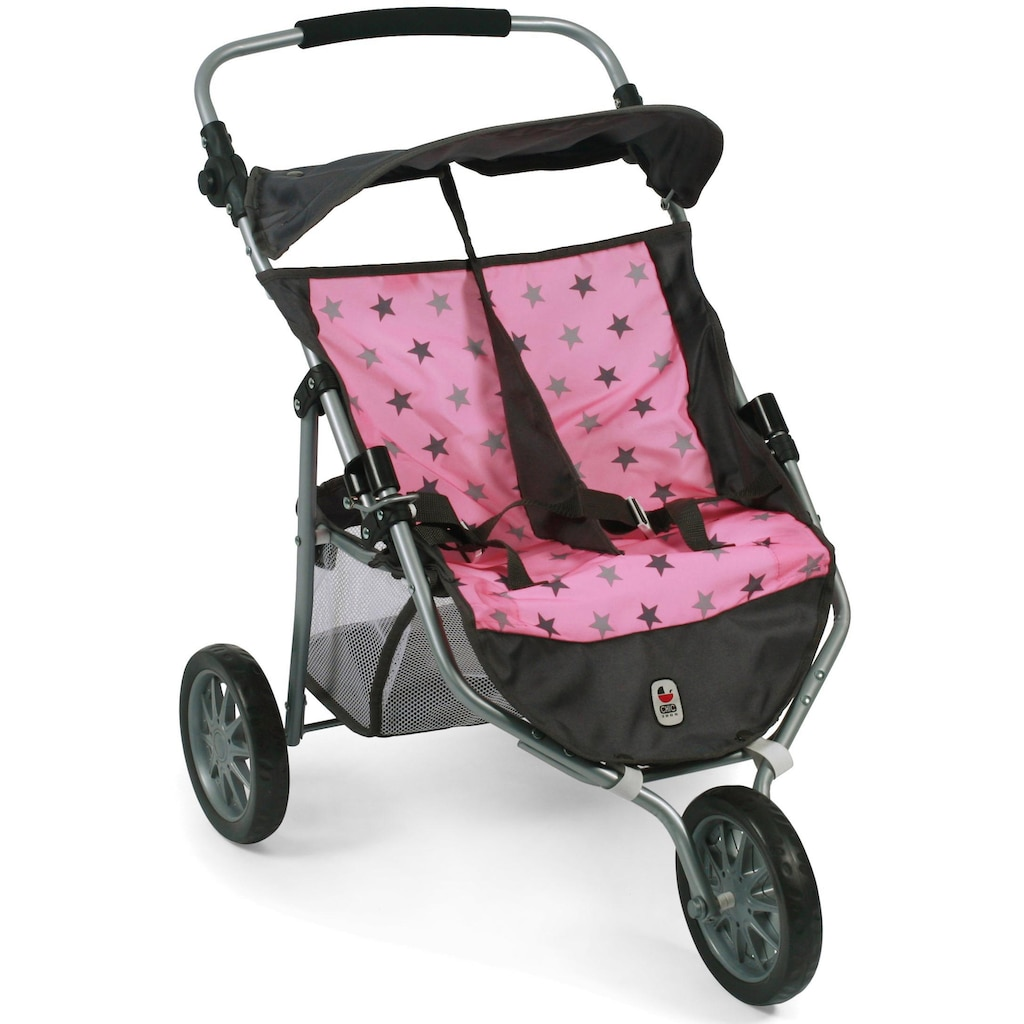 CHIC2000 Puppen-Zwillingsbuggy »Jogger, Stars Grey«