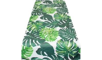 Delindo Lifestyle Tischläufer »Botanical LEAVES«, (1 St.), Strukturgewebe, bedruckt kaufen