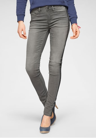 Arizona Skinny-fit-Jeans »Seitennaht mit kontrastfarbenem Streifen«, Mid Waist kaufen