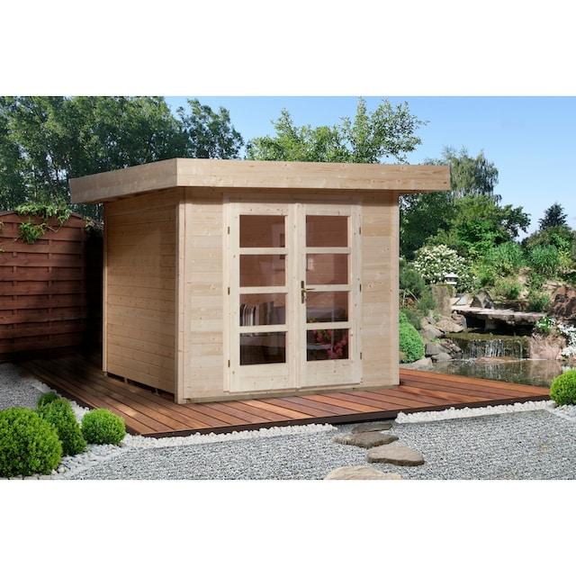 WEKA Gartenhaus »Chill-Out Gr.2«, BxT: 356x314 cm, inkl. Fußboden, in versch. Farben