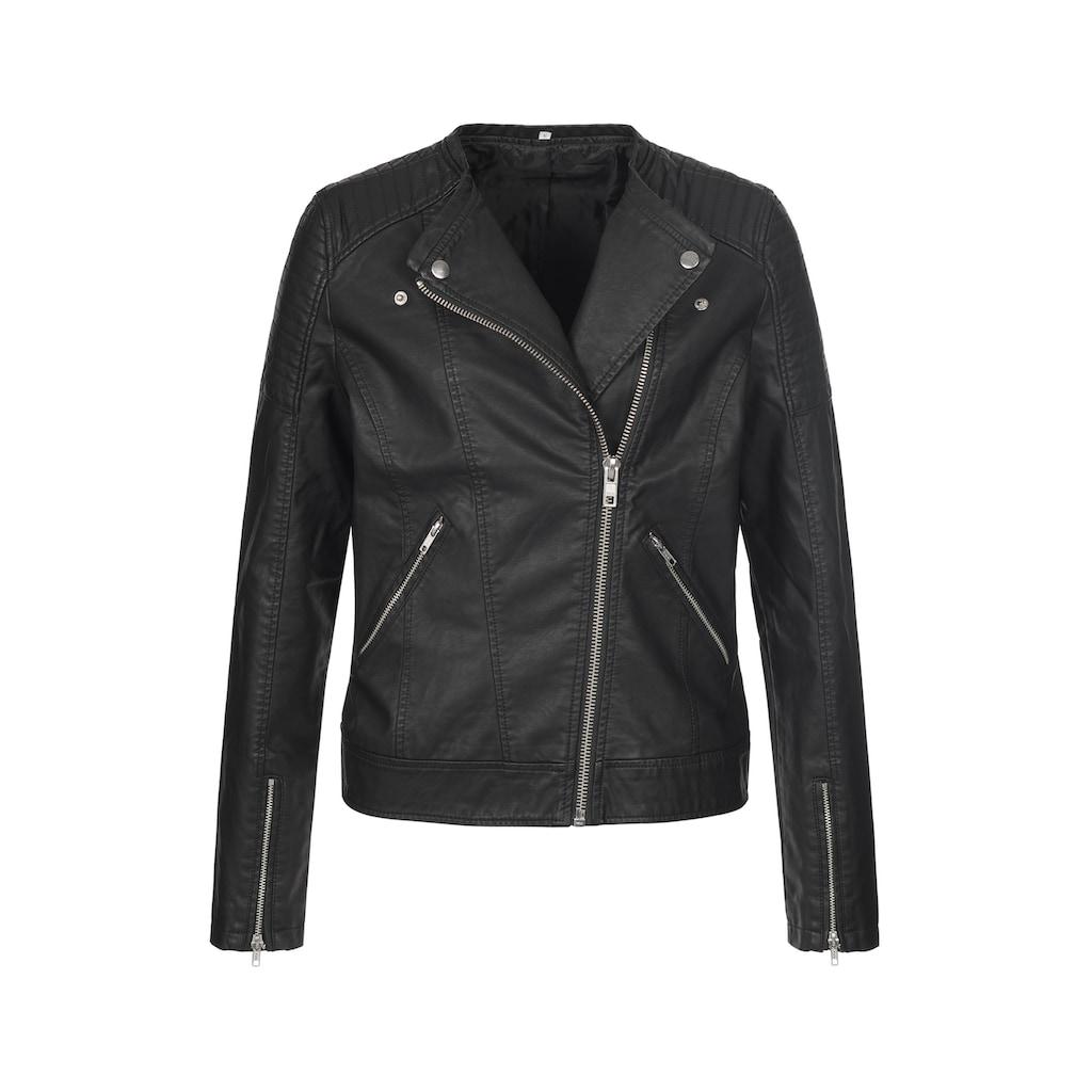 Stedman Lederimitatjacke »Road Jacket«, im rockigen Design