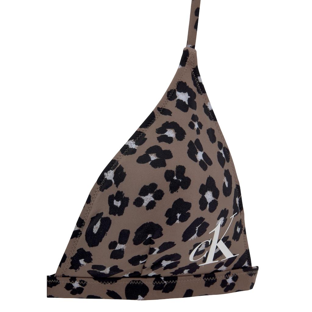 Calvin Klein Triangel-Bikini-Top »Leo«, mit angesagtem Animalprint