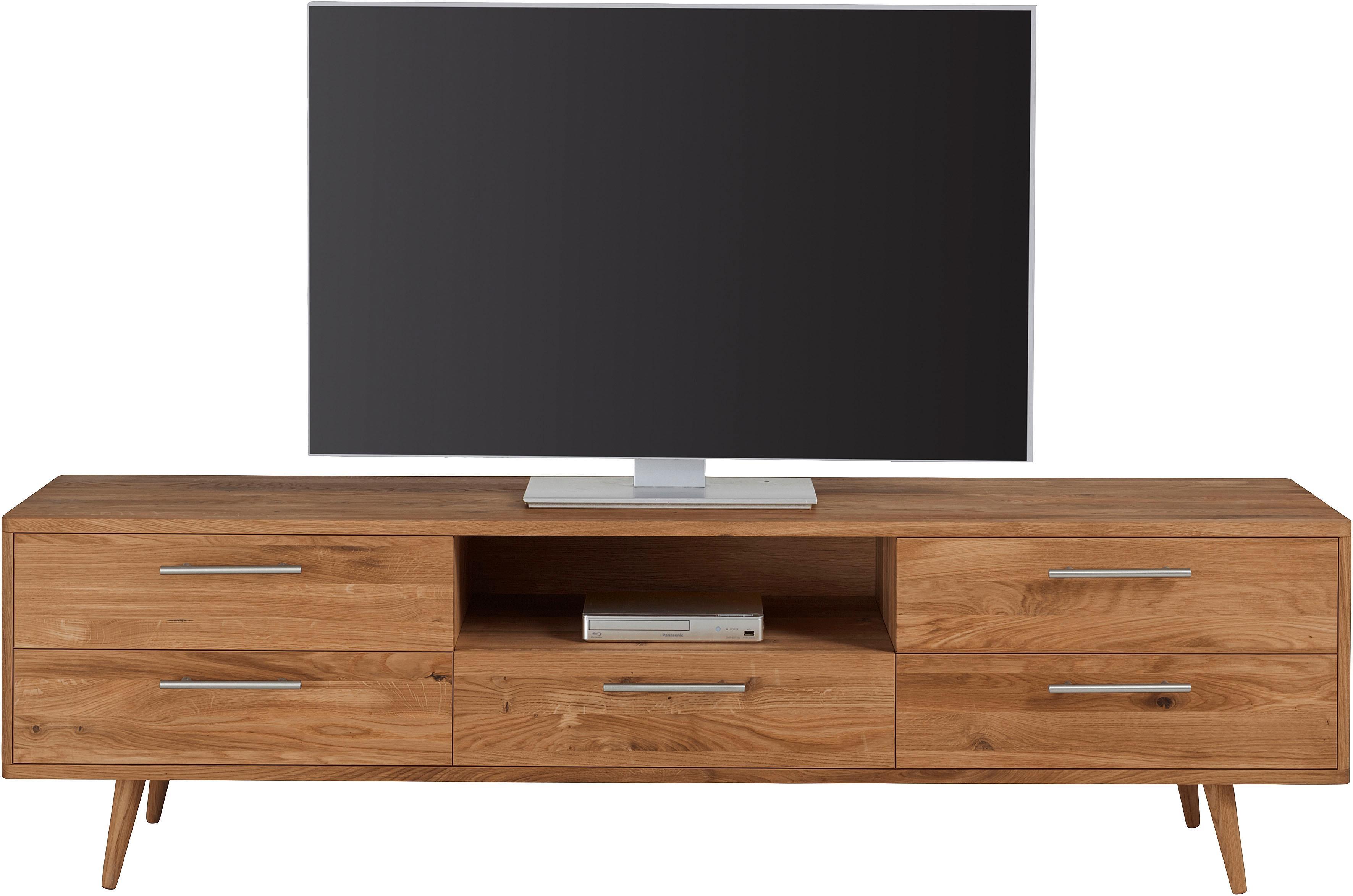 andas TV-Lowboard Pika Breite 180 cm aus massiver geölter Eiche | Wohnzimmer > TV-HiFi-Möbel > TV-Lowboards | Braun | Andas