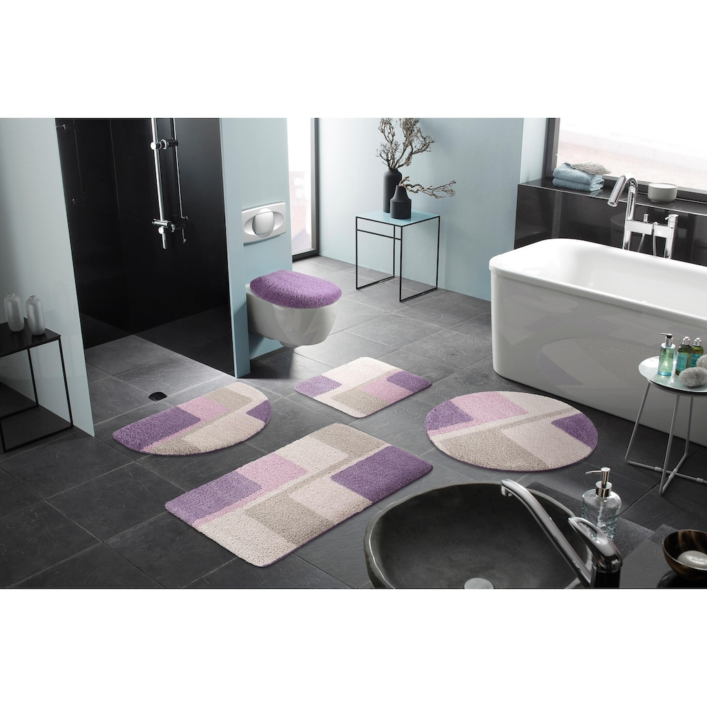 Home affaire Badematte »Flow«, Höhe 15 mm, strapazierfähig, Pastell