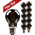 BLULAXA LED-Filament »Vintage«, E27, 10 St., Extra-Warmweiß, 10er-Set, Rauchglas, superwarmweis