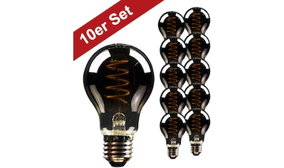 BLULAXA LED-Filament »Vintage«, E27, 10 St., Extra-Warmweiß, 10er-Set, Rauchglas, superwarmweis kaufen