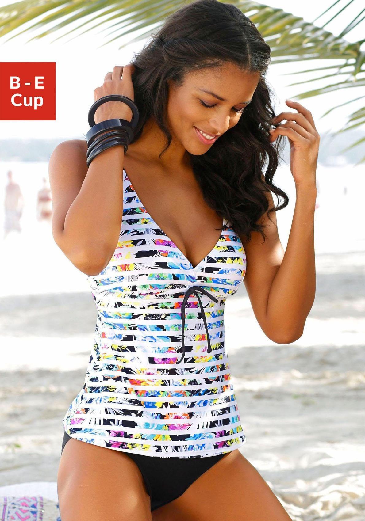 Bügel Bikini Sunseeker by Lascana Gr 44 Cup D Streifendesign NEU 48