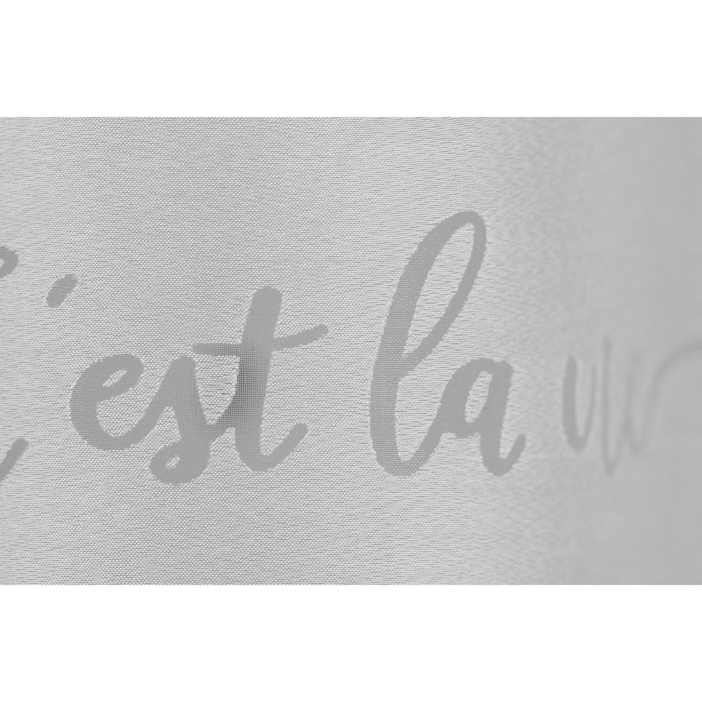 Gardine, »FD Cest la Vie 00«, freundin Home Collection, Stangendurchzug 1 Stück