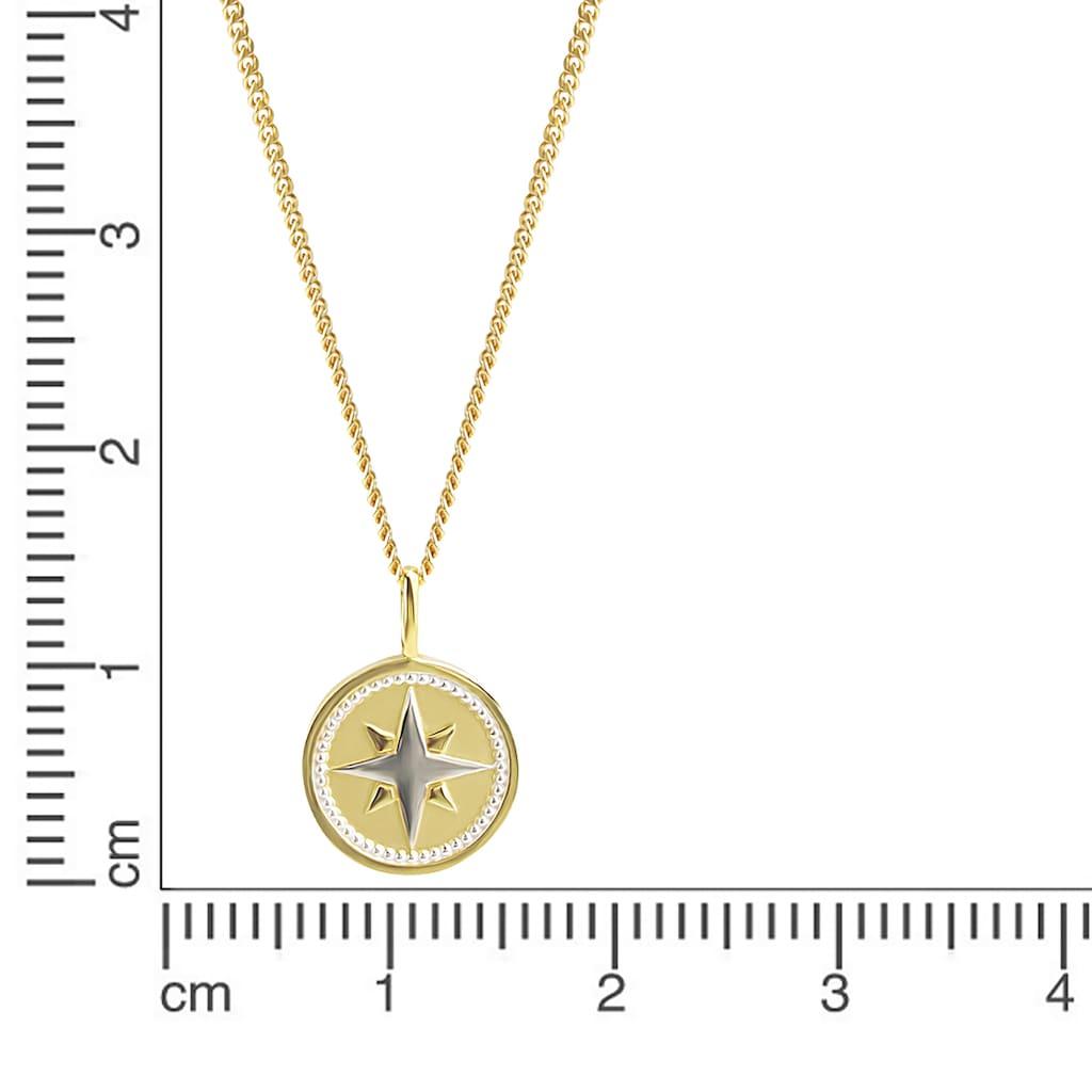 Orolino Kette mit Anhänger »375 Gold zweifarbig Windrose«