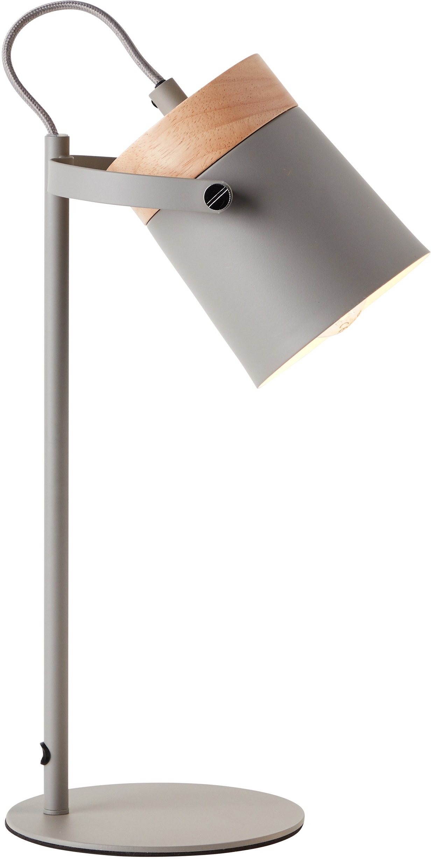 Lüttenhütt Tischleuchte Hilla, E14, grau, E14, max. 25W, H: 36 cm