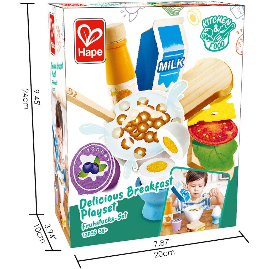 Hape Spiellebensmittel »Frühstücks-Set«, aus Holz; für Kaufladen oder Kinderküche