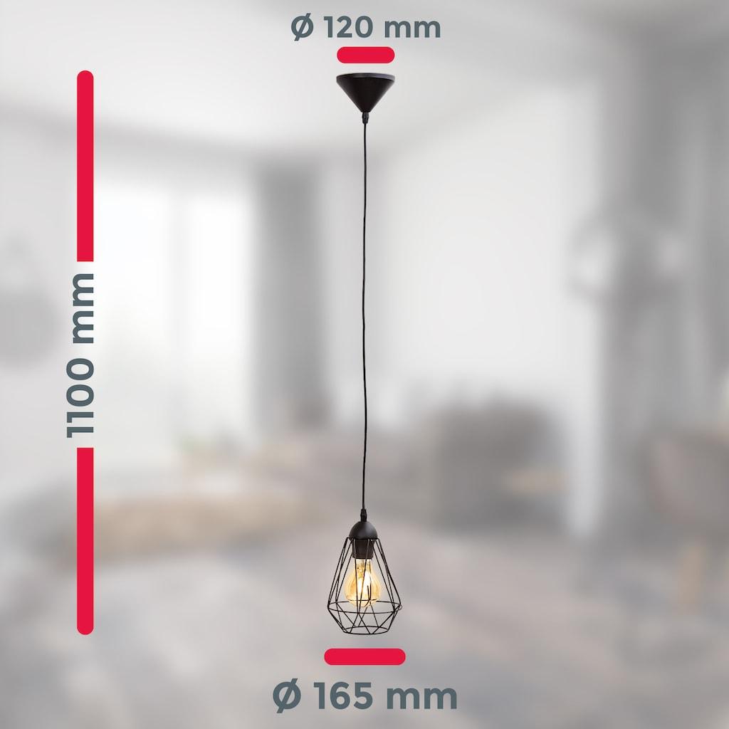 B.K.Licht LED Pendelleuchte, E27, LED Hängelampe schwarz Metall Draht Vintage Industrieleuchte Decke Retro E27