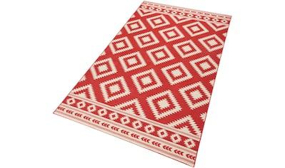 HANSE Home Teppich »Ethno«, rechteckig, 9 mm Höhe, Velours Haptik, gekettelt, Wohnzimmer kaufen