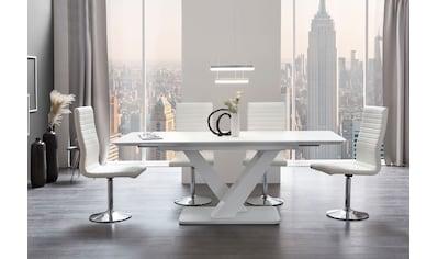 SalesFever Esstisch, Glastisch ausziehbar kaufen