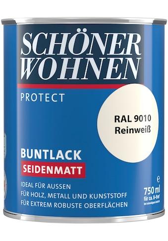 SCHÖNER WOHNEN-Kollektion Lack »Protect Buntlack«, seidenmatt, 750 ml, reinweiß RAL 9010 kaufen
