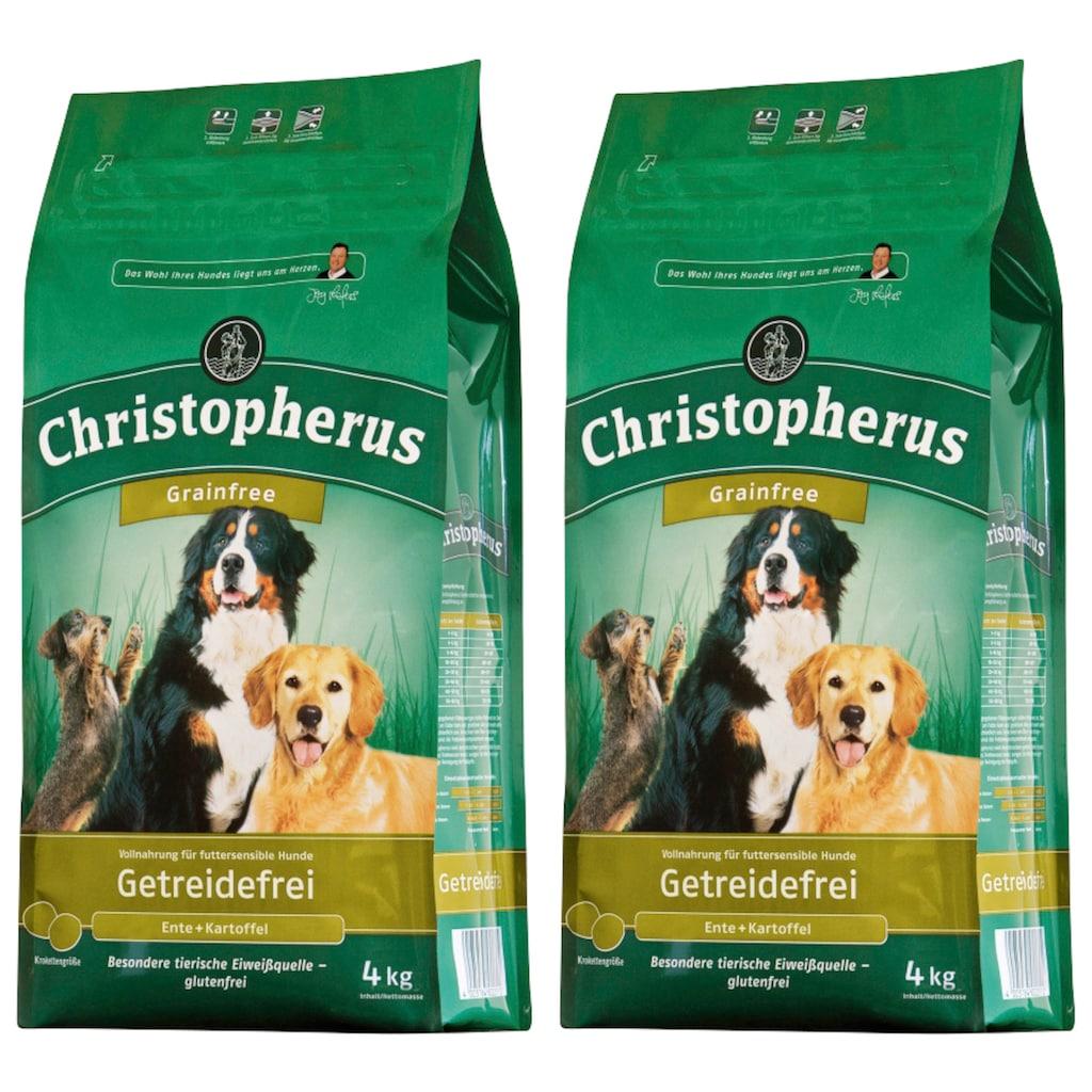 Christopherus Trockenfutter »Getreidefrei Ente und Kartoffel«, (2), 2 Beutel á 4 kg