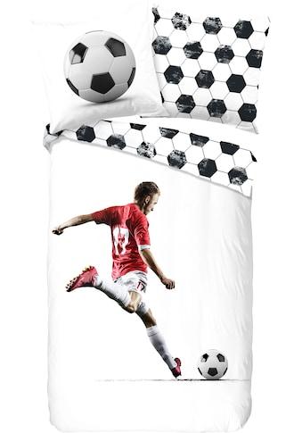 good morning Kinderbettwäsche »Score«, mit Fußballspieler kaufen