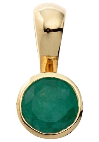 JOBO Runder Anhänger, rund 333 Gold mit Smaragd kaufen