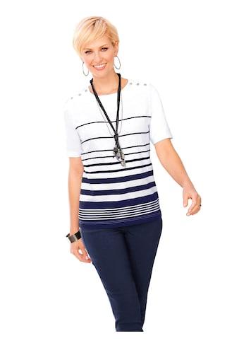 Casual Looks  Shirt mit lässigen Streifen - Dessin kaufen